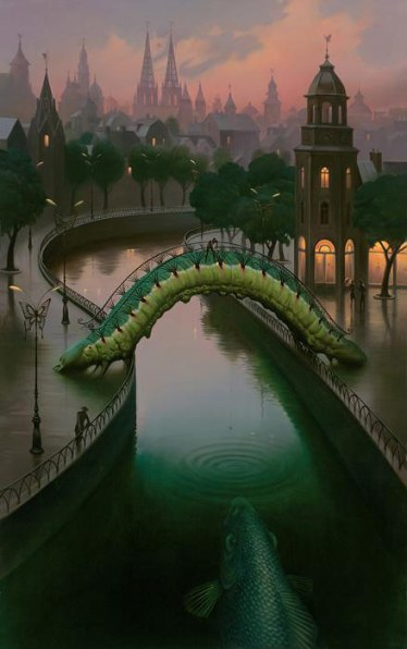 Vladimir Kush - Fish in the city